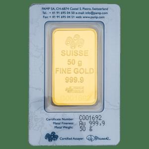 Buy 50 grams gold bars in Dubai - Mint Jewels